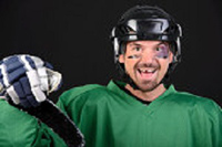 Knocked-Out Tooth is one of the emergency dental service which can happens on hockey player